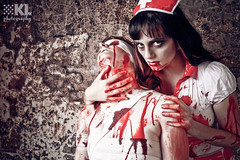 captive (karin.locke) Tags: red white hospital fun weird scary blood zombie dirty creepy spooky horror nurse macabre bloody zombies bandage bandages grungy autopsy gory grimy