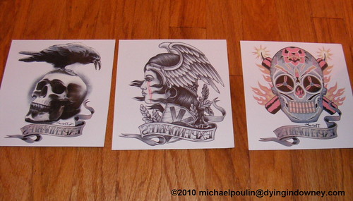 Expendables temporary tattoos 2010 Comic Con Swag - The Free Stuff