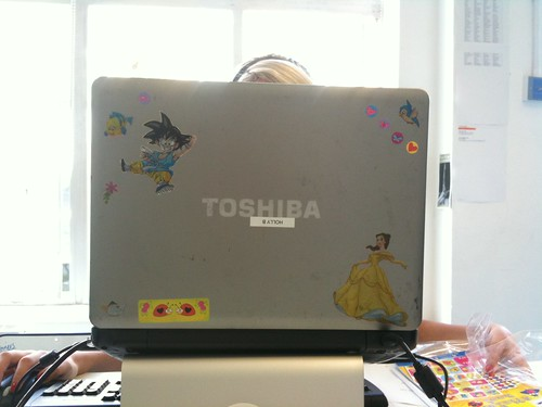 Stickers on Holly's Laptop