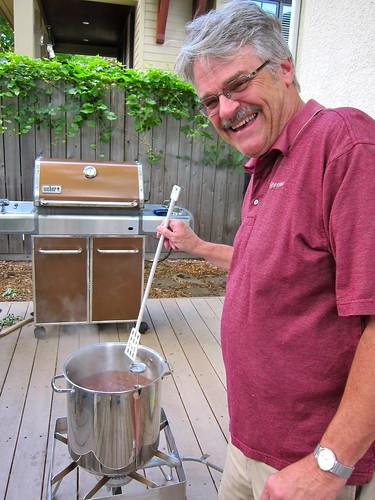 Dad Brewing Beer