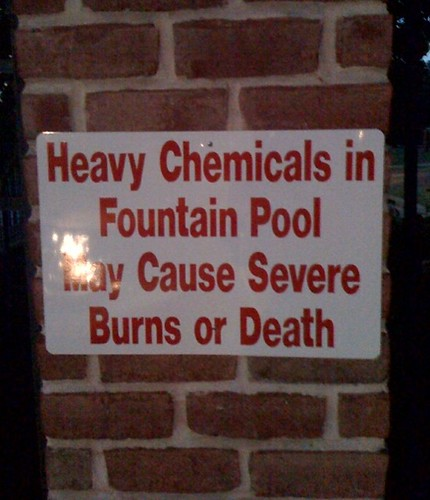 Heavy Chemicals in Fountain Pool May Cause Severe Burns or Death