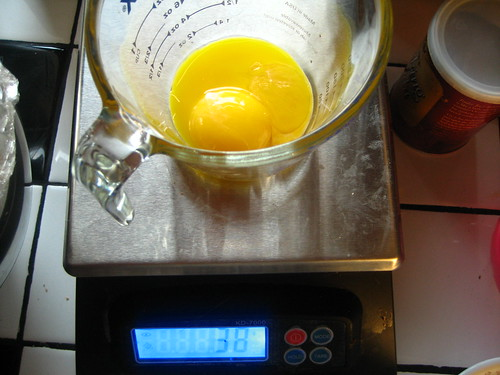 no way!  two egg yolks that weigh the same as two egg yolks!
