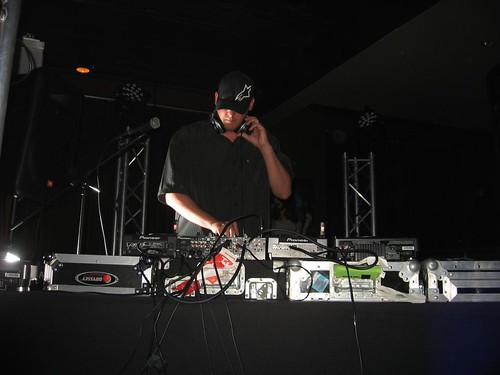 Scott Kirkland of The Crystal Method on the decks at Lucky Strike Lanes