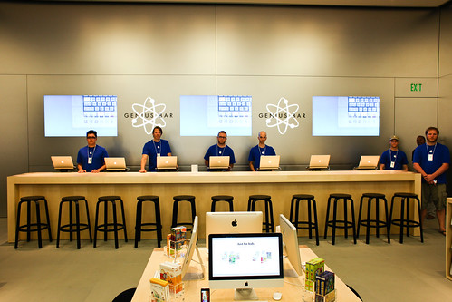 The Genius Bar at the new Walnut Street Apple Store in Philadelphia.