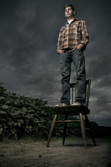 Can't Stand to Stand Can't Stand to Sit (Andy S. Foster) Tags: road wood old blue storm man black bird andy kitchen up clouds canon dark lens stand lyrics beans chair shoes soft box path bees carlson alien large s andrew cant bee jeans dirt foster sit button teenager l series soy cody plaid 1740mm vagabond b800 40d