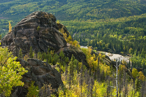 Angel Rocks and Chena River below