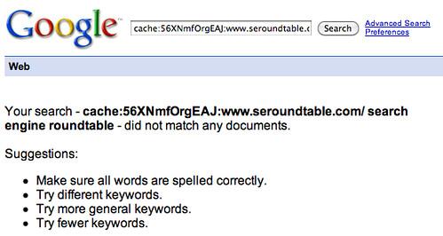 Google Cache Dead