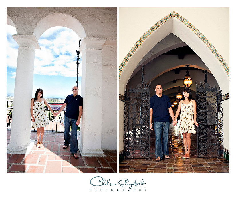 Santa Barbara courthouse engagement picture