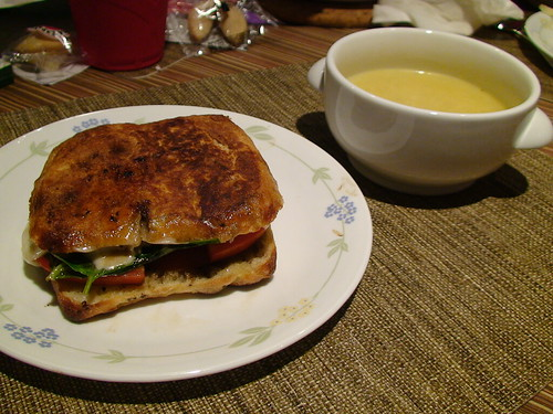 8/29/10 grilled portabello caprese panini