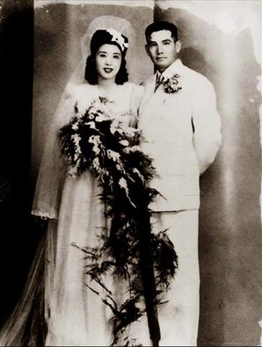 抗日名將-張靈甫將軍與王玉齡的結婚照