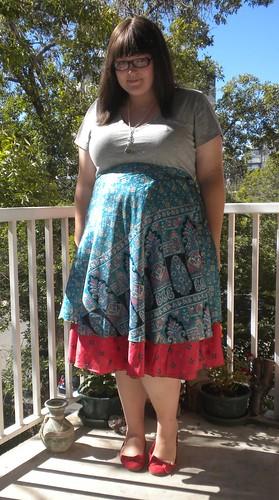 OOTD: wrap skirt