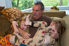 Tickle monster (DaveMosher) Tags: children grandpa