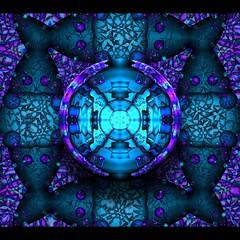 Meditation Station (Lyle58) Tags: blue abstract geometric circle design pattern purple violet kaleidoscope mandala symmetry zen harmony reflective symmetrical balance circular kaleidoscopic kaleidoscopes kaleidoscopefun kaleidoscopesonly