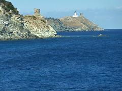 Baie de Capandula vers la tour d'Agnellu et la Giraglia