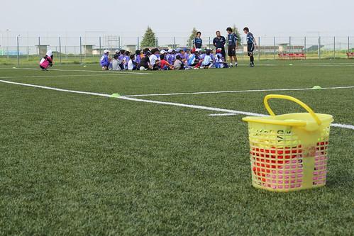 横浜FCサッカー教室、楽しかったそうです。ありがとうございました。