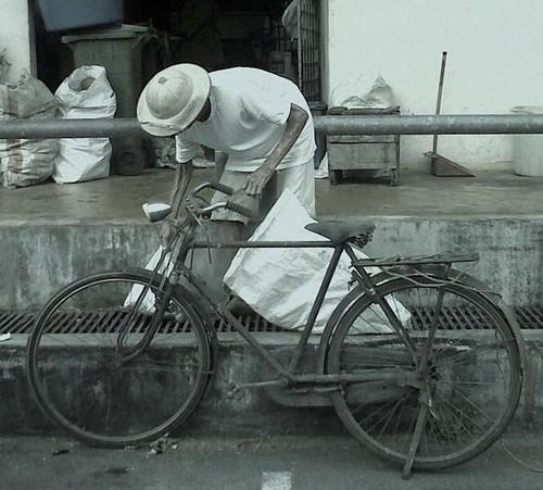 Old man&bike