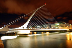 Samuel Beckett Bridge (Cian M) Tags: bridge ireland dublin night river liffey beckett samuel