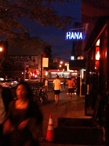 On the Lower East Side at night