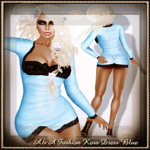 A&A Fashion Kora Dress Blue