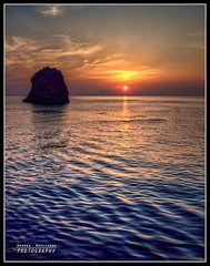 Ripples (Andrea Rapisarda) Tags: sunset sea sun seascape rocks raw tramonto mare ripples sole hdr eolie oly faraglioni isole isoleeolie increspature rapis60 andrearapisarda olympuse620