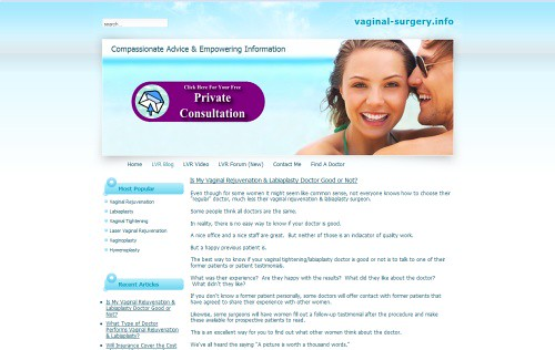 Vaginal Rejuvenation Blog
