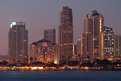 San Diego CityScape (Trent Bell) Tags: california city urban skyline lights cityscape sandiego citylights coronado 2010 longecposure sandiegocityscape