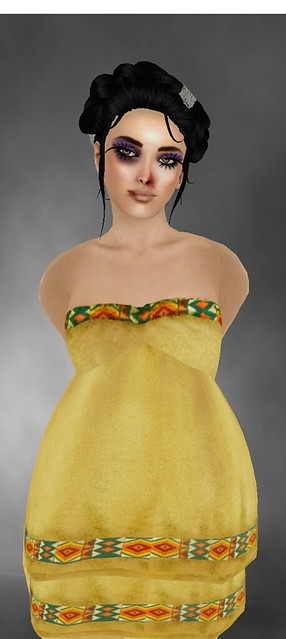 !1mm*** Bohemian dress yellow(LB) on Lucky Board  +Hairoin Men & Women Dolarbie