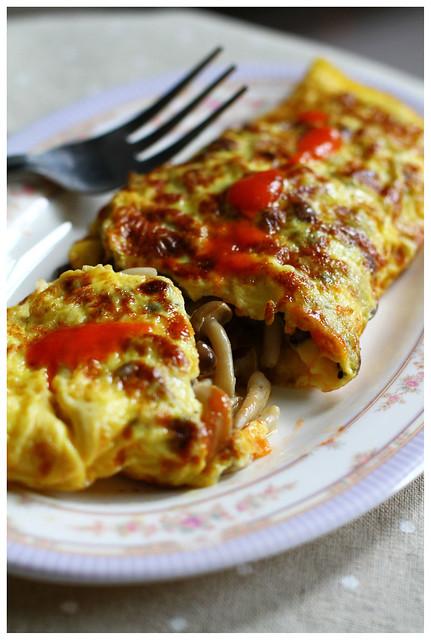 Mushroom Cheddar Omelette