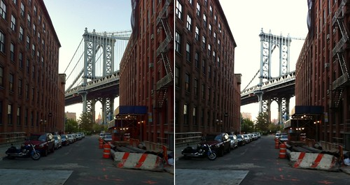 Washington St - view of Manhattan Bridge
