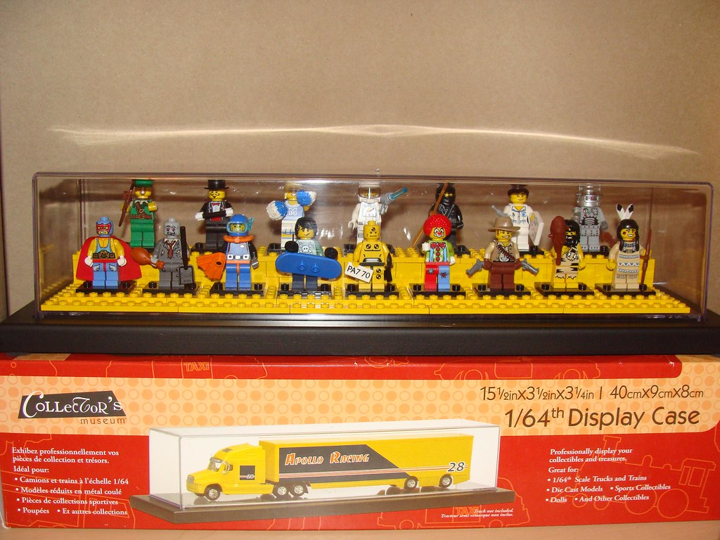 LEGO Collectible Minifigures Series 1 Display Case and Box