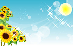 [Free Image] Graphics, Illustration, Scenery (Illustration), Sunflower, 201009140500