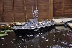 H.M.S.Portisham (Watson class) Tags: sea boat model ship warship minesweeper royalnavy