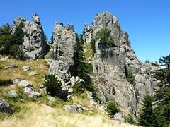 Punta di Quercitella : arrivée au col Nord
