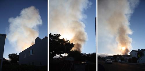 Gas line explodes, neighborhood burns