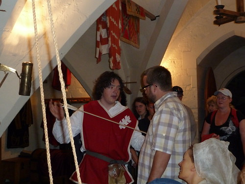 Guy using me as an example at Warwick castle