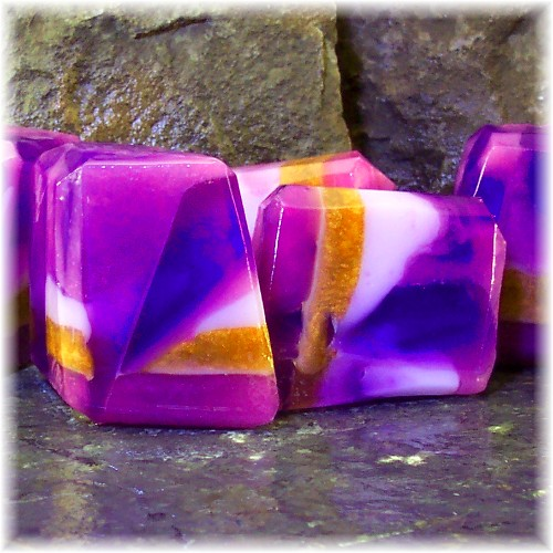 Tanzanite Soap Rocks by soapsmith