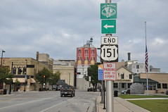 END 151 (Triborough) Tags: sign wisconsin roadsign wi 151 manitowoc us151 manitowoccounty lakemichigancircletour