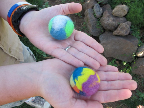 Big E's felted balls