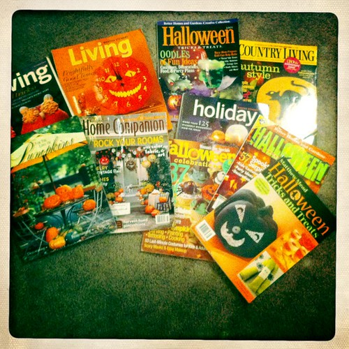 Previous year Halloween mags