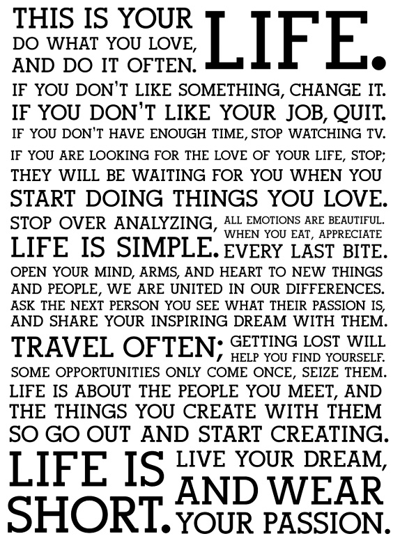 Life Manifesto
