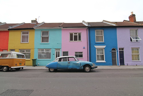 Exmouth Road given a blast of colour