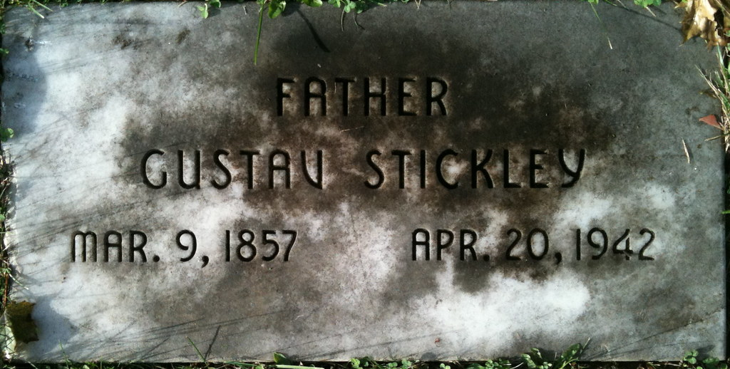 Gustav Stickley Grave, Oakwood Cemetery, Syracuse, New York