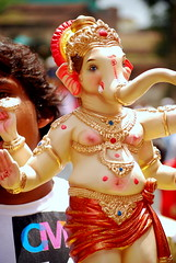 (shubhangi athalye) Tags: india festival festive ganesha colorful god indian celebration ganesh idol elephantgod maharashtra procession ganapati ganpati kolhapur maharashtrian ganeshchaturthi gajanan