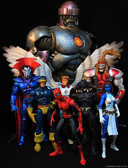 Marvel Legends Series 10 - Sentinel (toyrewind) Tags: angel spiderman cyclops marvellegends mystique hasbro sentinel blackpanther toybiz mrsinister omegared toyrewind