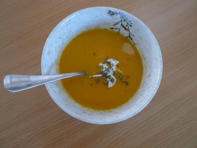 Butternut squash soup!