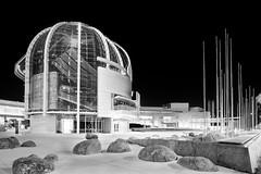 San Jose City Hall (StefanB) Tags: california longexposure bw glass monochrome architecture night nightshot cityhall sanjose r2d2 dome g1 rotunda geotag 2010 sanjosecityhall fav10 918mm flvonmirikr