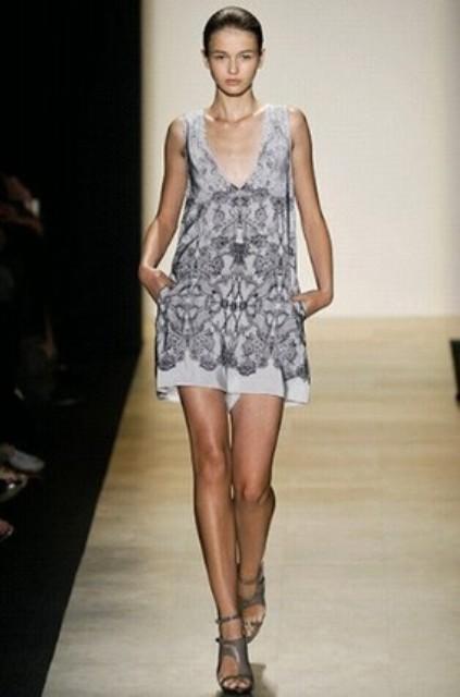 NYC Fashion Week 2010 inspiration BCBG lace print