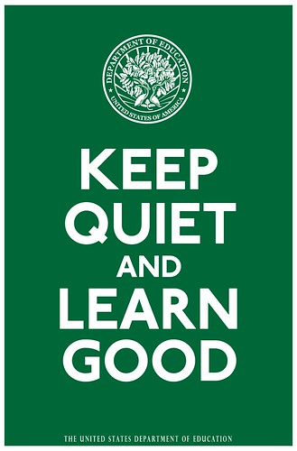 Keep Quiet And Learn Good Print