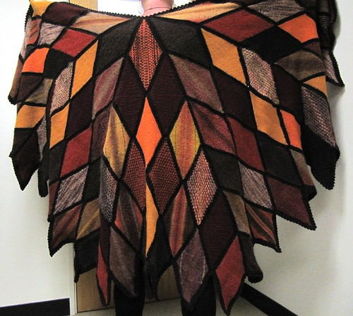 Autumnal Diamond Shawl