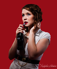 Helen_1 (Nicholas_Thomas) Tags: model redbackground beautydish